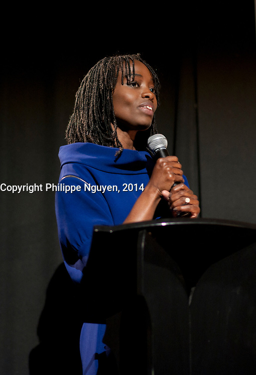 French actress  Alissa Maiga receive the CIRTEF  hommage  at Vues D'afriques (cinema festival)'s 30the anniversary at the Imperial Cinema in Montreal, Canada, April 25, 2014.<br /> <br /> Photo : Philippe Nguyen