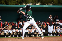 Plymouth State Panthers Eric Leitch (14) during the first game of a doubleheader against the Edgewood Eagles on March 17, 2015 at Terry Park in Fort Myers, Florida.  Edgewood defeated Plymouth State 12-3.  (Mike Janes/Four Seam Images)