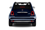 Straight rear view of 2020 Fiat 500C-HYBRID S8-Star 2 Door Convertible Rear View  stock images