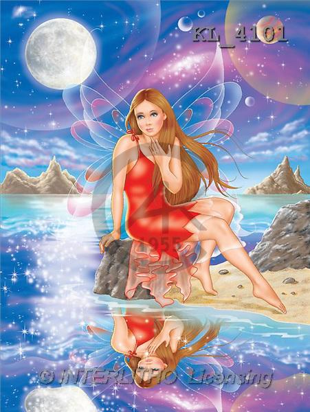 Interlitho, Lorella, FANTASY, paintings, elf, night, moon, KL, KL4101,#fantasy# illustrations, pinturas