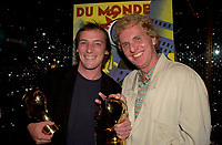 September 7,  2003, Montreal, Quebec, Canada<br /> <br /> Louis Belanger (L) and Serge THeriault (R) pose for photographers after  GAZ BAR BLUES, the new film by Montreal director Louis BÈlanger <br />  Belanger receive the Special Grand Prize of the Jury and also the OECUMNICAL AWARD for his movie, based on his father's life and values.<br /> <br /> <br /> <br /> The Festival runs from August 27th to september 7th, 2003<br /> <br /> <br /> Mandatory Credit: Photo by Pierre Roussel- Images Distribution. (©) Copyright 2003 by Pierre Roussel <br /> <br /> All Photos are on www.photoreflect.com, filed by date and events. For private and media sales
