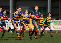 Action from the Counties Manukau Rugby Girls Fast Rip Tournament at Patumohoe Rugby Club in Patumahoe, New Zealand on Sunday, 8 August 2021. Photo: Simon Watts / www.bwmedia.co.nz