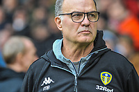 Leeds United's manager Marcelo Bielsa during the Sky Bet Championship match between Sheff United and Leeds United at Bramall Lane, Sheffield, England on 1 December 2018. Photo by Stephen Buckley / PRiME Media Images.