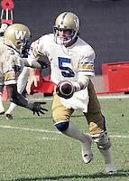 Ralph Dieter Brock Winnipeg Blue Bombers quarterback 1983. Copyright photograph Scott Grant