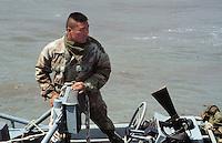 - men of US Navy special unit Seals at cape Teulada (Sardinia) for a NATO exercise..- uomini del reparto speciale della marina USA Seals a Capo Teulada (Sardegna) per una esercitazione NATO