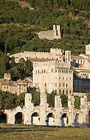 römisches Theater in Gubbio, Umbrien, Italien
