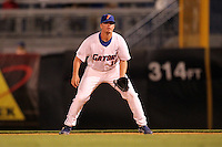 """Florida Gators Austin Maddox #10 during a game vs. the Florida State Seminoles in the """"Florida Four"""" at George M. Steinbrenner Field in Tampa, Florida;  March 1, 2011.  Florida State defeated Florida 5-3.  Photo By Mike Janes/Four Seam Images"""
