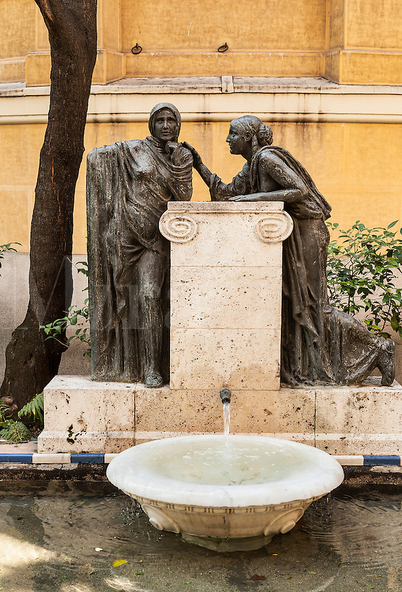 Exterior fountain at Casa Sorolla, Madrid, Spain
