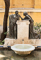 Exterior fountain at Casa Sorolla, Madrid, Spain