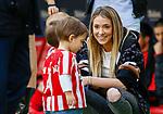 Alice Campello, wife of Atletico de Madrid's Alvaro Morata with their children before La Liga match. Mar 07, 2020. (ALTERPHOTOS/Manu R.B.)
