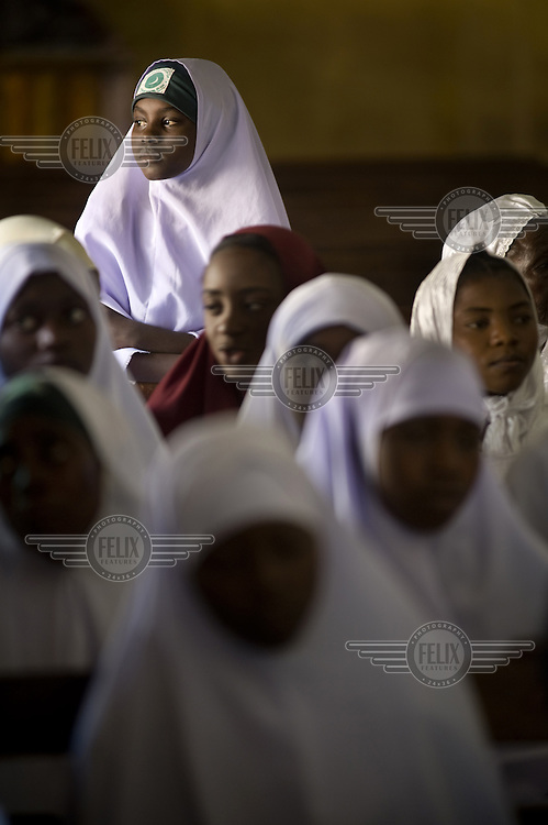Women and girls at the Central Mosque in Jos.
