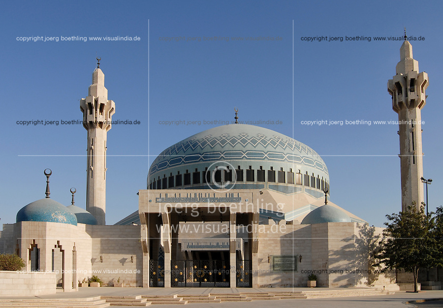 JORDAN, Amman, King I. Abdullah mosque / JORDANIEN, Amman, Koenig Abdullah Moschee