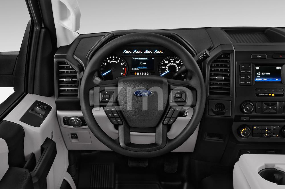 Car pictures of steering wheel view of a 2016 Ford F 150 XL 2 Door Pickup Steering Wheel