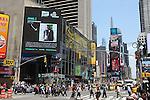 Jamal Felder graces a Times Square billboard.