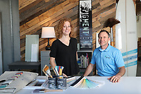 Christy Baker and Charlie Davis of Piedmont Painting and Pigment Color Design photographed for Virginia National Bank. Photo/Andrew Shurtleff Photography, LLC