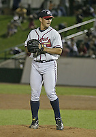 July 17, 2004:  Matt Whiteside of the Richmond Braves, Triple-A International League affiliate of the Atlanta Braves, during a game at Frontier Field in Rochester, NY.  Photo by:  Mike Janes/Four Seam Images
