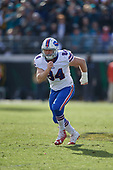 Buffalo Bills Nick O'Leary (84) during an NFL Wild-Card football game against the Jacksonville Jaguars, Sunday, January 7, 2018, in Jacksonville, Fla.  (Mike Janes Photography)