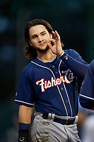 New Hampshire Fisher Cats second baseman Bo Bichette (5) during a game against the Trenton Thunder on August 19, 2018 at ARM & HAMMER Park in Trenton, New Jersey.  New Hampshire defeated Trenton 12-1.  (Mike Janes/Four Seam Images)