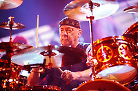 12 September 2020 - Modern Drummer hosts a tribute concert to the late great Rush drummer Neil Peart featuring live performances by some of the best drummers in the world with proceeds benefiting brain tumor resarch.  File Photo: Rush Concert 2013, Copps Coliseum, Hamilton, Ontario, Canada. Photo Credit: Brent Perniac/AdMedia