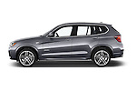 Car Driver side profile view of a 2016 BMW X3 xDrive28d 5 Door SUV Side View
