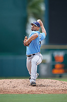 Tampa Bay Rays pitcher Roel Ramirez (89) delivers a pitch during an Instructional League game against the Baltimore Orioles on October 5, 2017 at Ed Smith Stadium in Sarasota, Florida.  (Mike Janes/Four Seam Images)