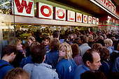 West Berlin, West Germany<br /> November 11, 1989 <br /> <br /> East Germans shop at Woolworth for the first time in West Berlin. East Germans travel to the West after the East German government lifted travel and emigration restrictions regulations on November 9, 1989.