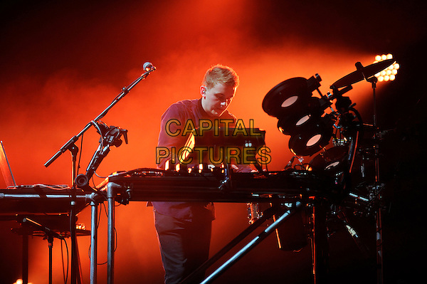 LONDON, ENGLAND - November 29: Howard Lawrence of Disclosure  performs in concert at the Brixton Academy on November 29, 2013 in London, England<br /> CAP/MAR<br /> © Martin Harris/Capital Pictures