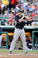 Catcher Brian McCann (34) of the New York Yankees bats in a Spring Training game against the Atlanta Braves on Wednesday, March 18, 2015, at Champion Stadium at the ESPN Wide World of Sports Complex in Lake Buena Vista, Florida. The Yankees won, 12-5. (Tom Priddy/Four Seam Images)
