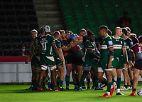 9th September 2020; Twickenham Stoop, London, England; Gallagher Premiership Rugby, London Irish versus Harlequins; Santiago Garcia Botta of Harlequins celebrates with his team mates after scoring a try