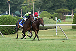 August 23, 2020: RUSHING FALL #3, ridden by Javier Castellano, trained by Chad Brown runs by Mean Mary #6 and jockey Luis Saez to win the Diana stakes (Gr. 1) at Saratoga Race Course in Saratoga Springs, New York. Rob Simmons/Eclipse Sportswire/CSM