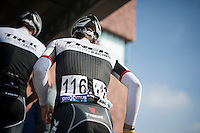 Jasper Stuyven (BEL/Trek Factory Racing) to the start podium<br /> <br /> 103rd Scheldeprijs 2015