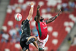 New Zealand vs Kenya, Day 2 of the HSBC Singapore Rugby Sevens as part of the World Rugby HSBC World Rugby Sevens Series 2016-17 at the National Stadium on 16 April 2017 in Singapore. Photo by Victor Fraile / Power Sport Images