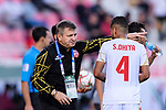 Bahrain Head Coach Miroslav Soukup (L) gives instructions to Sayed Dhiya Saeed of Bahrain (R) during the AFC Asian Cup UAE 2019 Round of 16 match between South Korea (KOR) and Bahrain (BHR) at Rashid Stadium on 22 January 2019 in Dubai, United Arab Emirates. Photo by Marcio Rodrigo Machado / Power Sport Images