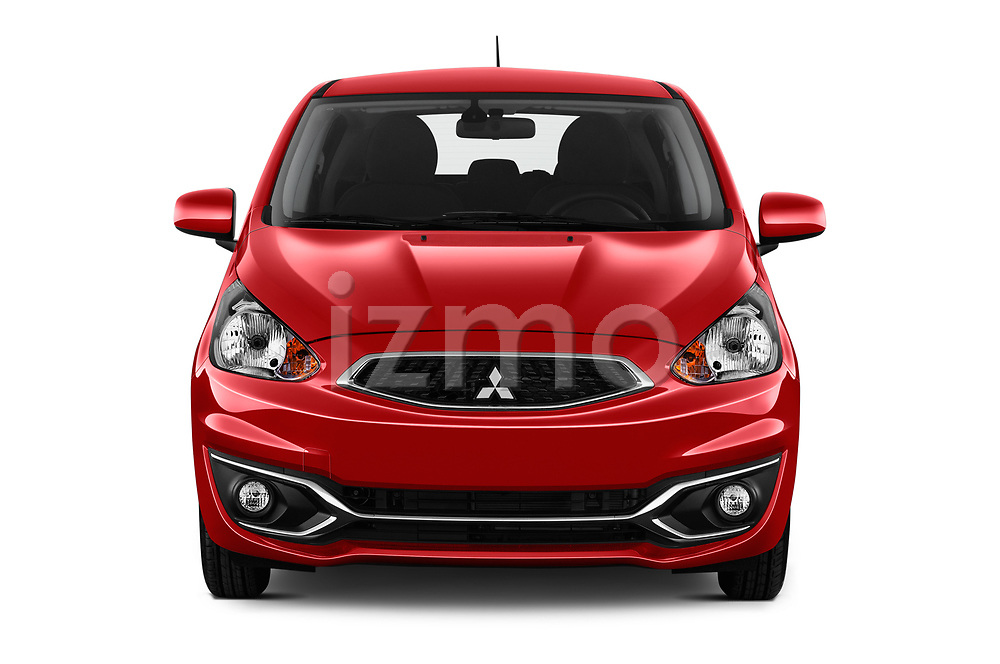 Car photography straight front view of a 2019 Mitsubishi Spacestar Intense 5 Door Hatchback Front View