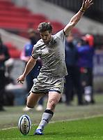 5th February 2021; Ashton Gate Stadium, Bristol, England; Premiership Rugby Union, Bristol Bears versus Sale Sharks; AJ Macginty of Sale Sharks kicks a conversion