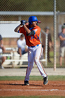 Nathan Nankil (14) during the WWBA World Championship at the Roger Dean Complex on October 13, 2019 in Jupiter, Florida.  Nathan Nankil attends Bonita Vista High School in Chula Vista, CA and is committed to Cal State Fullerton.  (Mike Janes/Four Seam Images)