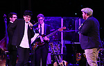 George Salazar and Jason SweetTooth Williams on stage at the Dramatists Guild Foundation 2018 dgf: gala at the Manhattan Center Ballroom on November 12, 2018 in New York City.