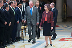King Juan Carlos I of Spain and Queen Sofia of Spain attends to National Sport Awards 2016 at El Pardo Palace in Madrid , Spain. February 19, 2018. (ALTERPHOTOS/Borja B.Hojas)