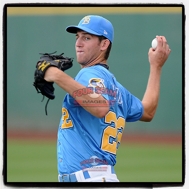 #OTD On This Day, August 7, 2010, Zeke Spruill of the Myrtle Beach Pelicans pitched in a game against the Potomac Nationals at BB&T Coastal Field in Myrtle Beach, South Carolina. Drafted by the Atlanta Braves in the 2nd round of the 2008 draft, Spruill at one time ranked No. 6 on the Braves' Top 20. He made the majors with the Arizona Diamondbacks in 2013 and 2014. He also played in Korea and most recently was with the Lamigo Monkeys of the Chinese Professional Baseball League. His last MLB contract was with the Texas Rangers. (Tom Priddy/Four Seam Images) #MiLB #OnThisDay #MissingBaseball #nobaseball #stayathome #minorleagues #minorleaguebaseball #Baseball #CarolinaLeague #AloneTogether
