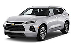 2020 Chevrolet Blazer Premier 5 Door SUV Angular Front automotive stock photos of front three quarter view