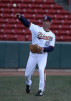 April 8, 2005:  First Baseman Jeff Liefer of the Buffalo Bisons during a game at Dunn Tire Park in Buffalo, NY.  Buffalo is the International League Triple-A affiliate of the Cleveland Indians.  Photo by:  Mike Janes/Four Seam Images