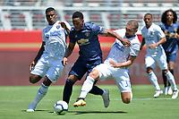 Santa Clara, CA - Sunday July 22, 2018: Harold Cummings, Guram Kashia during a friendly match between the San Jose Earthquakes and Manchester United FC at Levi's Stadium.