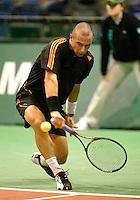 21-2-06, Netherlands, tennis, Rotterdam, ABNAMROWTT,  Jean-Rene Lisnard in action against Christophe Rochus