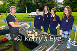 Attending the Architecture Kerry's Big Dig run by the Kerry County Museum in Pearse Park on Tuesday, l to r: Mark Kelly (School of Irish Archeology), Brid Curtin  Katelyn Brosnan, Evelyn McElligott and Saoirse Daly students from Presentation Secondary school in Castleisland.
