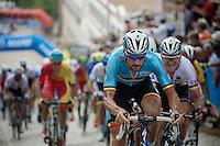 the always present Tom Boonen (BEL/Etixx-QuickStep) up 23rd street<br /> <br /> Elite Men Road Race<br /> UCI Road World Championships Richmond 2015 / USA