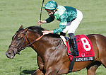April 09, 2021: Raging Bull #8, ridden by Irad Ortiz Jr. draws away from the field to win the $300,000 Maker's Mark Mile (Grade 1) for trainer Chad Brown and owner Peter Brant at Keeneland Race Course in Lexington, Kentucky on April 09, 2021. Candice Chavez/Eclipse Sportswire/CSM