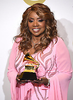 LOS ANGELES - JANUARY 26: Gloria Gaynor with the award for Roots Gospel Album at the 62nd Annual Grammy Awards at Staples Center on January 26, 2020 in Los Angeles, California. (Photo by Frank Micelotta/PictureGroup)