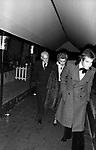 MASSIMO GARGIA CON DONINA CICOGNA E ALBERTO MORAVIA<br /> SERATA JACKIE O' ROMA 1977