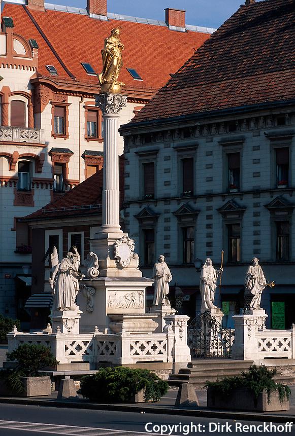Slowenien, Maribor, Glavni Trg, Marienstatue.