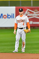 Nolan Fontana (4) of the Fresno Grizzlies during the game against the Salt Lake Bees in Pacific Coast League action at Smith's Ballpark on April 13, 2016 in Salt Lake City, Utah. The Grizzlies defeated the Bees 6-0. (Stephen Smith/Four Seam Images)